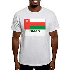 Flag of Oman Ash Grey T-Shirt