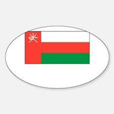 Oman Flag Picture Oval Decal