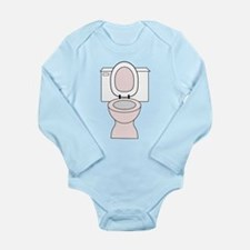 Potty Long Sleeve Infant Bodysuit