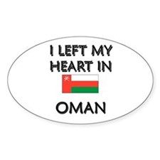 I Left My Heart In Oman Oval Decal