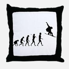 Snowboard Grab Evolution Throw Pillow