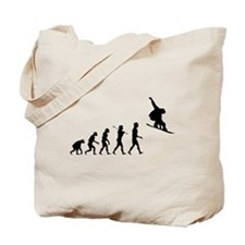 Snowboard Grab Evolution Tote Bag