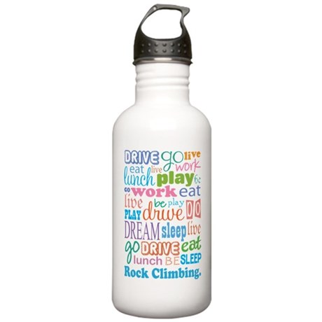 Rock Climbing Stainless Water Bottle 1.0L