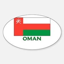 Oman Flag Gear Oval Decal