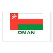 Oman Flag Gear Rectangle Decal