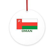Oman Flag Gear Ornament (Round)