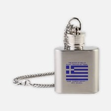Blood of Hellas and Ouzo Flask Necklace