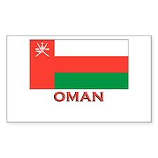 Oman Flag Merchandise Rectangle Decal