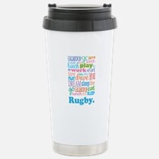 Rugby Stainless Steel Travel Mug