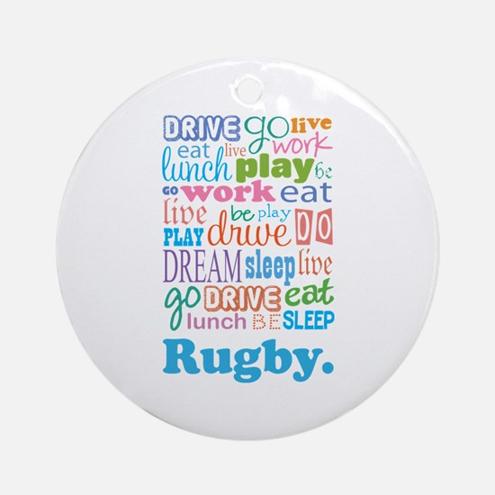 Rugby Ornament (Round)