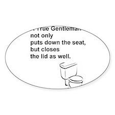 True Gentleman_toilet Decal