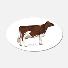 Red and White Holstein Cow Wall Decal