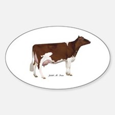 Red and White Holstein Cow Decal
