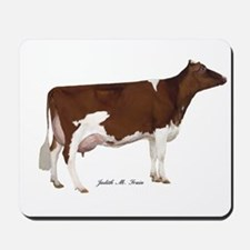Red and White Holstein Cow Mousepad