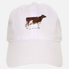 Red and White Holstein Cow Baseball Baseball Cap