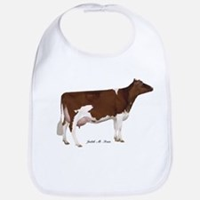 Red and White Holstein Cow Bib