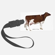 Red and White Holstein Cow Luggage Tag