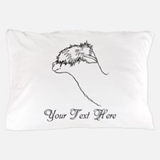 Alpaca. Custom Text. Pillow Case