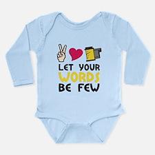 Words Be Few Long Sleeve Infant Bodysuit