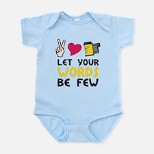 Words Be Few Infant Bodysuit
