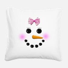 Snow Woman Square Canvas Pillow