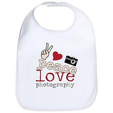 Peace Love Photography Bib