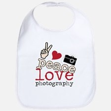 Peace Love Photography Bib