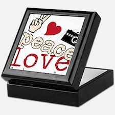 Peace Love Photography Keepsake Box