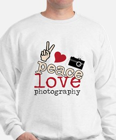 Peace Love Photography Sweatshirt