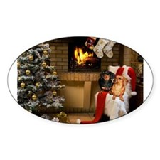 By the Fireplace Doxies Decal