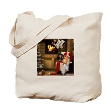 By the Fireplace Doxies Tote Bag