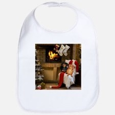 By the Fireplace Doxies Bib