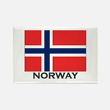 Norway Flag Stuff Rectangle Magnet