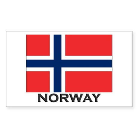 Norway Flag Stuff Rectangle Sticker