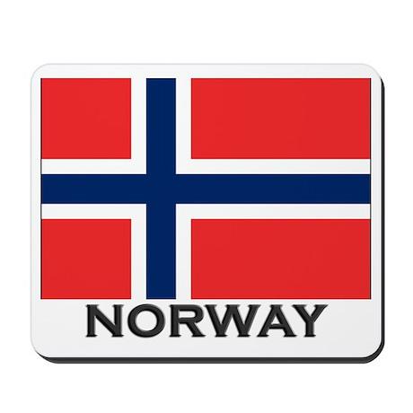 Norway Flag Stuff Mousepad