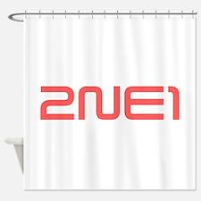 2NE1 red logo Shower Curtain