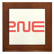 2NE1 red logo Framed Tile