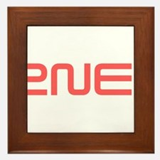 2NE1 red logo Framed Tile
