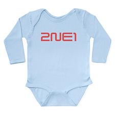 2NE1 red logo Long Sleeve Infant Bodysuit