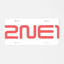 2NE1 red logo Aluminum License Plate
