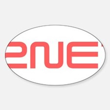 2NE1 red logo Decal