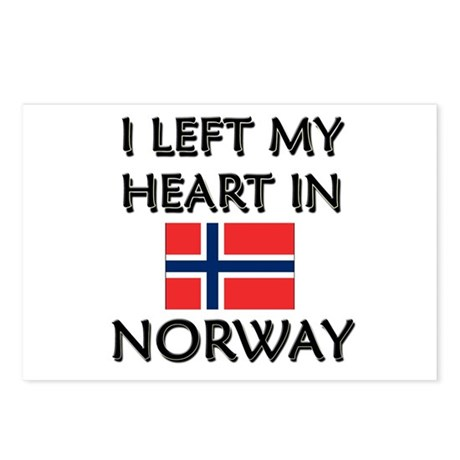 I Left My Heart In Norway Postcards (Package of 8)