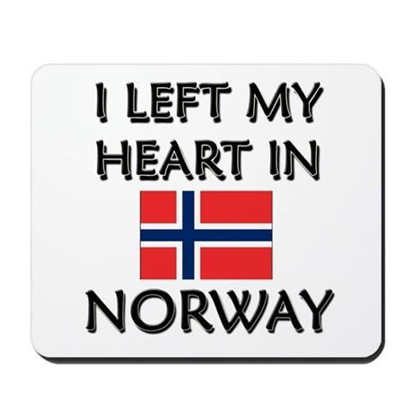 I Left My Heart In Norway Mousepad