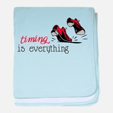 Timing Is Everything baby blanket