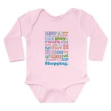 Shopaholic Long Sleeve Infant Bodysuit