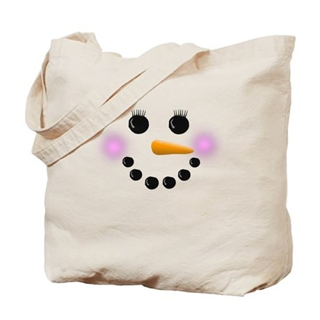 Snow Woman Face Tote Bag