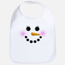 Snow Woman Face Bib