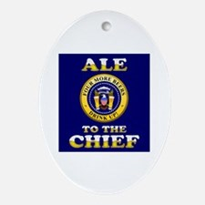 Ale to the Chief Ornament (Oval)