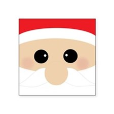 "Santas Closeup Funny Square Sticker 3"" x 3"""