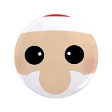 "Santas Closeup Funny 3.5"" Button (100 pack)"